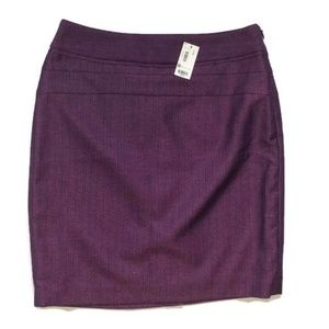 The Limited Purple Pencil Skirt-Sz 2 NWT